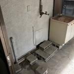 ブロック(石)と流し台、洗濯機の処分!