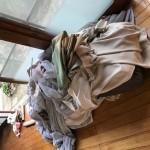 取り外したカーテン