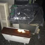 解体予定アパートのエアコン、ガス台等の回収処分(荒川区南千住)